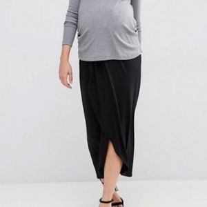 NWT ASOS Maternity Black Stretch Maxi Skirt 6